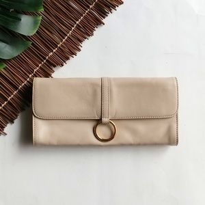 NWOT Kate Landry Plush Leather Clutch